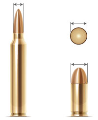 Understanding bullet calibers, bullet sizes and the difference between them. Bullet caliber refers to the size, or diameter of the bullet.