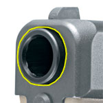 The muzzle is the open end of the front of a gun